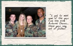 Taylor with army guys