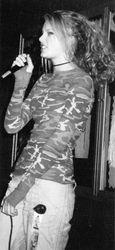 Taylor performing in high school