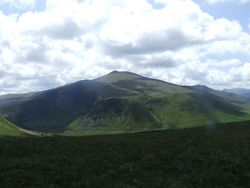 Views towards the back of Skiddaw.