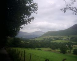 Looking back down Newlands valley