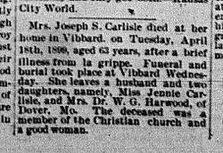 Mrs. Joseph Carlisle