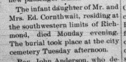 Infant Cornthwaite