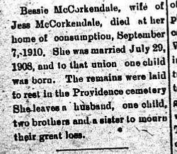 Bessie McCorkendale