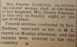 Phoebe Frederick