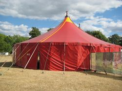 And here's the tent ...