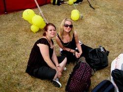 Laura Stevens stage manager (left) with Frances Jones designer