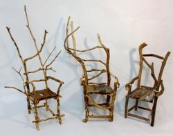 Trio of Miniature Chairs