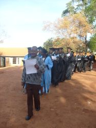 The Principal Leading a procession