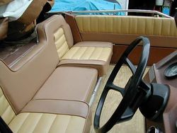 Reupholstered boat seats