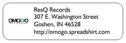 ResQ Records Address Label