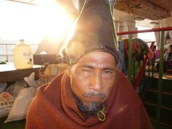 An affable monk. A fellow passenger on the ferry to Bhamo.
