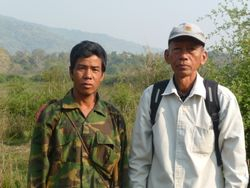 Po Sey (boatman & guide) and Sein Win (interpreter).
