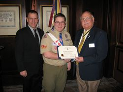Richmond Chapter's Eagle Scout of the Year for 2012, Ryan Densley