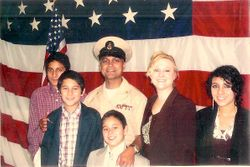 The Nair Family at the Seattle Navy Base