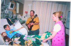 Mr. Dave and I singing after my kidney transplant.