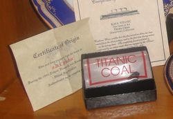 Authentic Piece of Coal from Titanic Wreck
