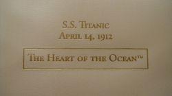 J Peterman Heart of the Ocean Box
