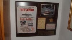 Titanic Memorial Plaque