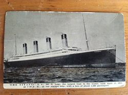 Titanic Postcard, Original!