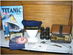 Titanic Officers Hat, Sign, etc