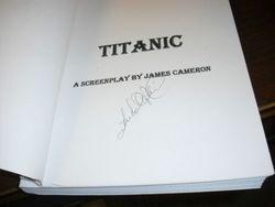 Titanic Script signed by Leonardo Decaprio