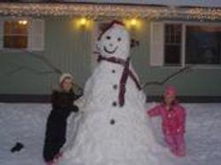 What a Snowman!!!!!     Jan. 2008 winter