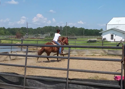 Kelly First Ride on 2yr old Filly