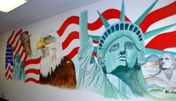 35 foot Liberty Tax Mural - left side