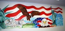 Liberty Tax Mural - right side
