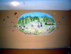 Goldilocks and the 3 Bears Mural