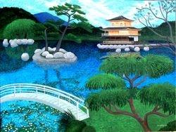 Japanese temple scene