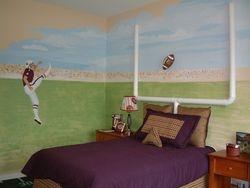 Model home Football Mural