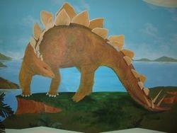 Stegosaurus Mural
