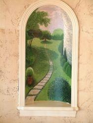 Recessed Tuscan niche