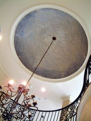 10 foot across faux painted dome