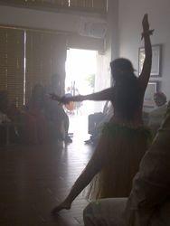 En pleno baile.