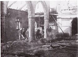Rowley Church after the fire