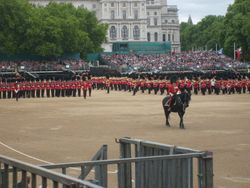 The Colours being paraded