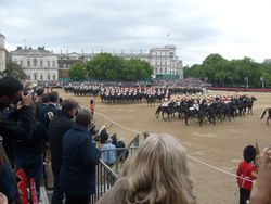 The Horse Guards ride past