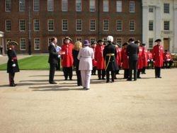 Presentation of roses at Royal Hospital Chelsea