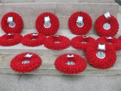 RSStG wreaths at the Cenotaph