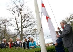 Raising the flag on St.George's Day in WGC