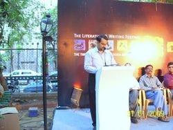 Reading My Poem at the Kala Ghoda Festival Mumbai 2009