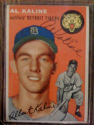 Autographed 1954 Topps Kaline RC