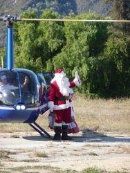 Santa waving to the Crowd