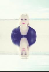 Sara's Blue Light: Self-Portrait by the sea