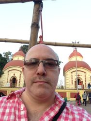 Matt in Dakshineshwar, India
