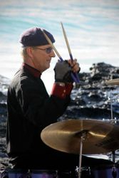 Me playing drums for a film clip