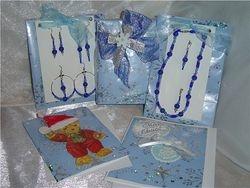 Christmas card and Jewlery Gift Set