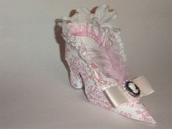 Victorian style boot decor